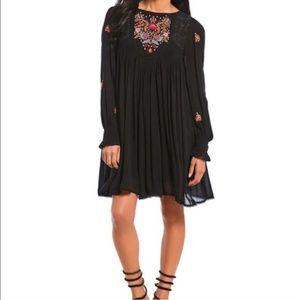 NWT Free People Mohave Black Mini Dress
